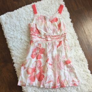LOFT Pink Flora Sleeveless Spring Dress